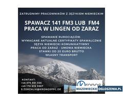 Spawacz TIG 141 fm3 lub fm4 - Lingen Niemcy, od zaraz